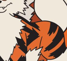 Arcanine On Bubble Background Sticker
