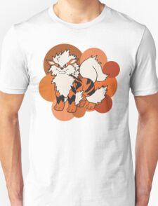 Arcanine On Bubble Background Unisex T-Shirt