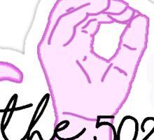 LOUISVILLE-THE 502 Sticker