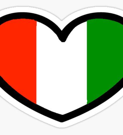 I Love Italy Sticker Sticker