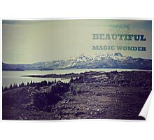 Mountain Scene (Quote) Poster