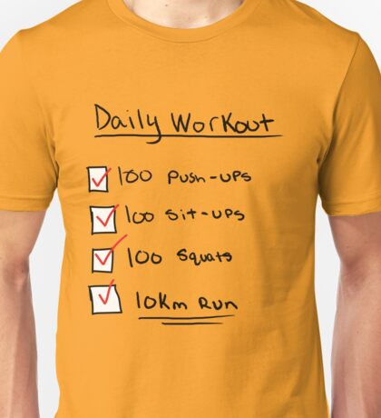 One Punch Man Workout Unisex T-Shirt