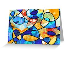 Colorful Art - Line Dance 1 - Sharon Cummings Greeting Card