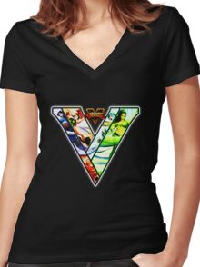 Street Fighter V - girls Women's Fitted V-Neck T-Shirt