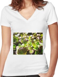 Spicy Salad Women's Fitted V-Neck T-Shirt