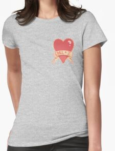 photoshop valentines Womens Fitted T-Shirt
