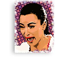 Funny Ugly Face Kim Crying Canvas Print