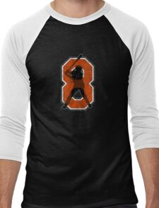 8 - The Iron Man (vintage) Men's Baseball ¾ T-Shirt