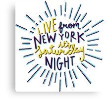 Saturday Night Live Canvas Print