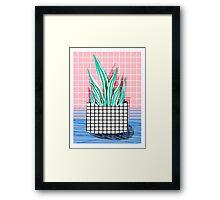 Glam - modern pop art memphis throwback retro 1980s style bklyn grid pattern new york city Framed Print
