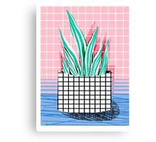 Glam - modern pop art memphis throwback retro 1980s style bklyn grid pattern new york city Canvas Print