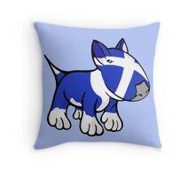 Scottish Bull Terrier Throw Pillow