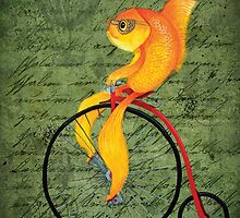 Penny Farthing Fish2 by Katherine Appleby