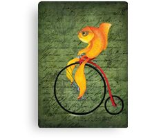 Penny Farthing Fish2 Canvas Print