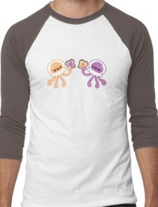 Peanut Butter Jellyfish Love Men's Baseball ¾ T-Shirt