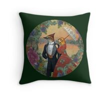 An Evening Stroll Throw Pillow