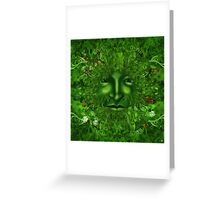GREEN MAN GENESIS Greeting Card
