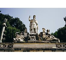 Fountain Statue Photographic Print