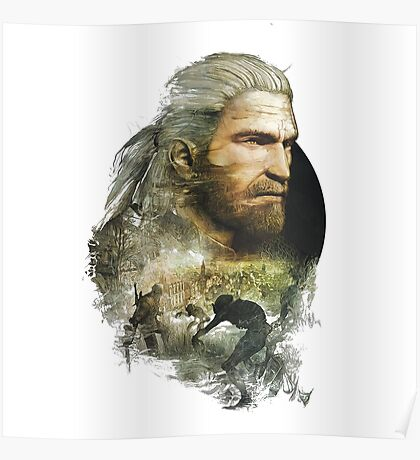Geralt of Rivia - The Witcher 3 Poster