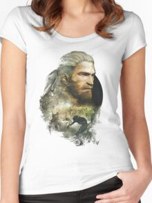 Geralt of Rivia - The Witcher 3 Women's Fitted Scoop T-Shirt