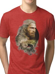 Geralt of Rivia - The Witcher 3 Tri-blend T-Shirt