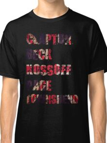 Clapton - Beck - Townshend - Kossoff - Page - British Guitar Legends Classic T-Shirt