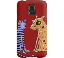 Opposites Attract Cat and Dog Samsung Galaxy Case/Skin