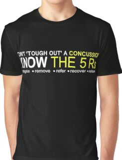 Official USA Rugby Concussion Policy: Know the 5 Rs Graphic T-Shirt
