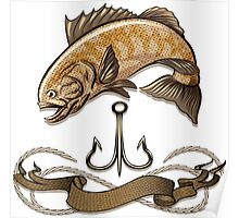 The fish and treble hook Poster