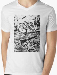 Farmer's Rose Mens V-Neck T-Shirt
