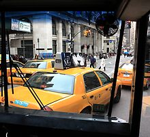 New York Taxi Cabs by Frank Romeo