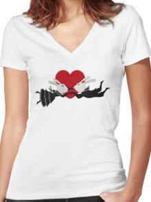 Perils of Passion Bunny Love Women's Fitted V-Neck T-Shirt