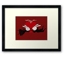Perils of Passion Bunny Love Framed Print