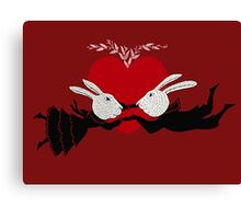 Perils of Passion Bunny Love Canvas Print