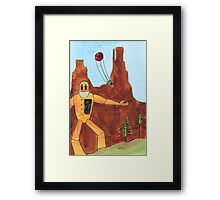 Robot Farm:  Balloon Ride Framed Print