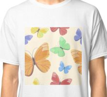 Seamless pattern with flying butterflies Classic T-Shirt