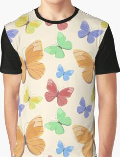 Seamless pattern with flying butterflies Graphic T-Shirt