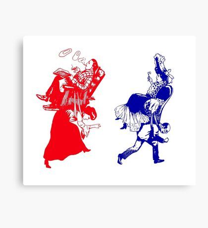 funny victorian marriage Canvas Print