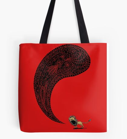 Heart of a Lion Tote Bag