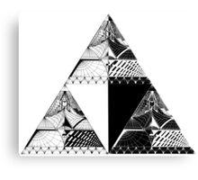 Tri-force pattern Canvas Print