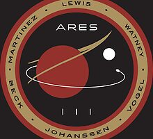 Ares III Mission patch - The Martian by Downwind