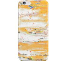 Arrows Fly In An Orange Sky iPhone Case/Skin