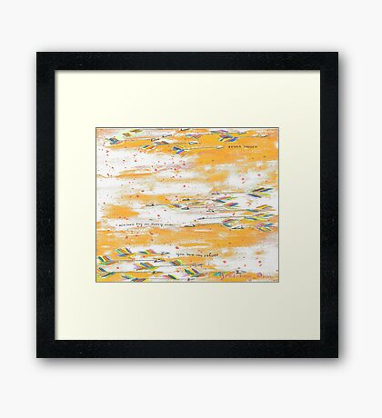 Arrows Fly In An Orange Sky Framed Print