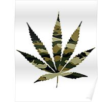 Camo Weed Poster