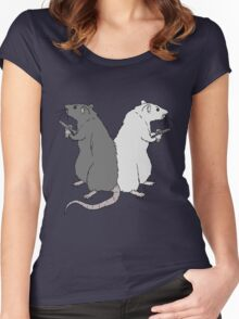 Rats with Gats Women's Fitted Scoop T-Shirt