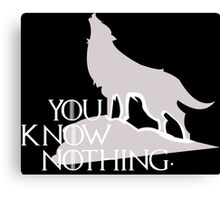 You Know Nothing - GOT Canvas Print