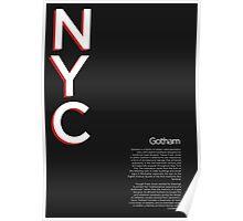 Gotham Typography Poster Poster