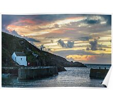 Porthgain Harbour at Sunset Poster