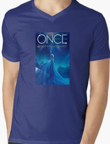 Once Upon a Time, light blue v2, season 4, OUAT, storybrooke has frozen over Mens V-Neck T-Shirt