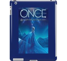 Once Upon a Time, light blue v2, season 4, OUAT, storybrooke has frozen over iPad Case/Skin